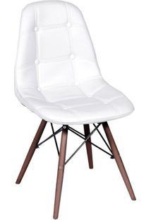 Cadeira Eames Botonãª- Branca & Marrom Escuro- 83X44Xor Design