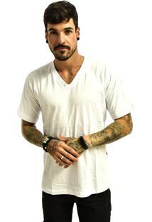 Camiseta Rich Young Gola V Básica Lisa Branco