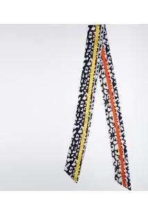 Faixa Para Cabelo- Azul Marinho & Amarela- 88X180Cmgregory