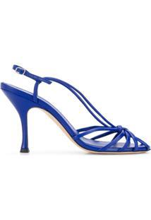 Victoria Beckham Sandália De Tiras Com Salto 100Mm - Azul