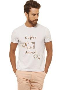 Camiseta Joss - Coffee Marrom - Masculina - Masculino-Branco