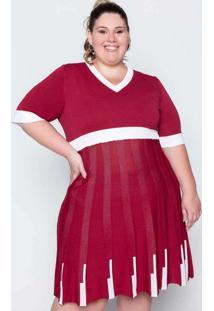 Vestido Midi Almaria Plus Size Garage Tricot Verme