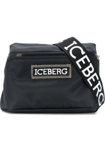 Iceberg Pochete Com Patch De Logo - Preto