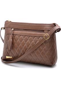 Bolsa De Couro Transversal Hendy Bag Marrom - Kanui