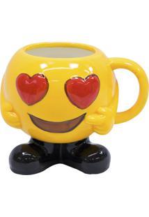 Caneca Minas De Presentes Emoticon Amarelo