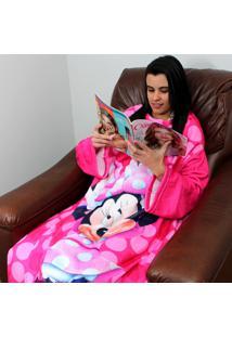 Cobertor Com Mangas Zona Criativa Minnie Rosa