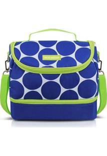 Bolsa Térmica Dots Com 2 Compartimentos - Unissex-Azul