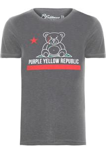 Camiseta Masculina Republic - Cinza