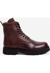 Bota John John Mountain Boots Couro Marrom Masculina John John Mountain Boots-Marrom Escuro-42