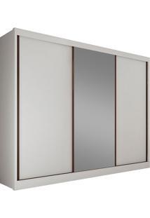 Guarda-Roupa Casal Com Espelho 3 Portas Diamond- Novo Horizonte - Branco