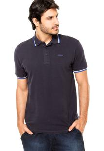 Camisa Polo Sommer Viés Azul Marinho