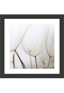Quadro Decorativo Com Moldura Floral Iii Preto 30X30 Cm