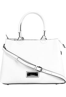 Bolsa Santa Lolla Shopper Risco Feminina - Feminino-Branco