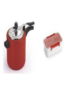 Kit Pote Plástico Para Marmita 780Ml+ Panela De Pressão 4.5L