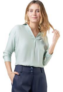 Camisa Mx Fashion Viscose Giorgina Verde