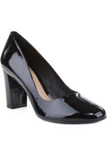Sapato Tradicional Envernizado- Preto- Salto: 7,8Cmarezzo & Co.