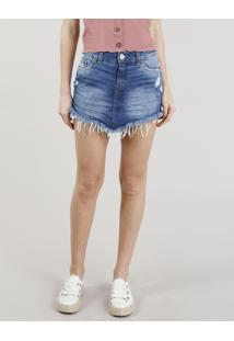 Saia E Mini Saia Clock Jeans feminina  bff2a01bfcc