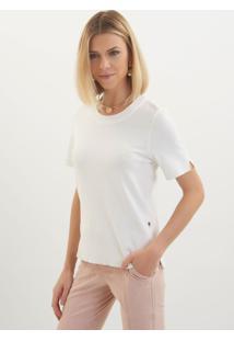 Camiseta Le Lis Blanc Jasmin Ii Tricot Off White Feminina