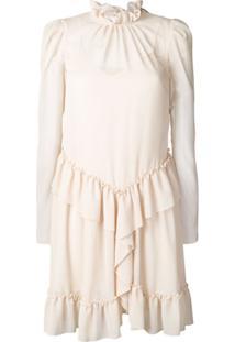 See By Chloé Longsleeved Ruffled Dress - Neutro