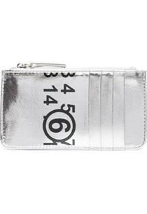 Mm6 Maison Margiela Carteira Com Estampa De Logo - Cinza