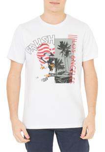 Camiseta Frush Eagle Flag Branca