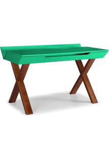 Escrivaninha Studio Cor Cacau Com Verde Anis - 28953 Sun House