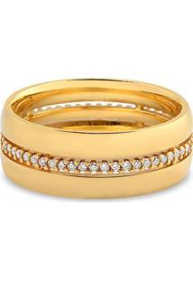 Aliança De Casamento Ouro Amarelo E Diamantes (7Mm)