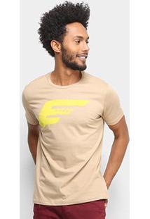 Camiseta Ellus Básica Masculina - Masculino-Cáqui