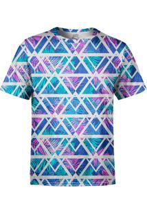 Camiseta Estampada Over Fame Tecno Geométrico Multicolorido