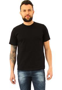 Camiseta Versatti Manga Curta Gola V Fran Preto