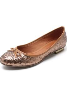 Sapatilha Bebecê Glitter Bronze