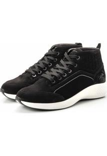 Coturno Tênis Casual Jhon Boots Clássico Preto