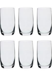 Conjunto De Copos Long Drink Com 6 Unidades Bohemia Incolor 380 Ml