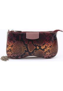 Bolsa Shoulder Bag Snake Rosa Peônia