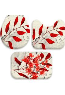 Jogo Tapate Love Decors Para Banheiro Sheets Red ÚNico Vermelho - Vermelho - Dafiti
