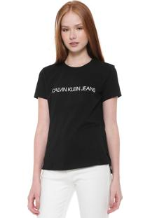 Camiseta Calvin Klein Jeans Embossed Preta