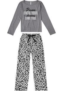 Pijama Longo Estampado Oncinha Malwee Liberta