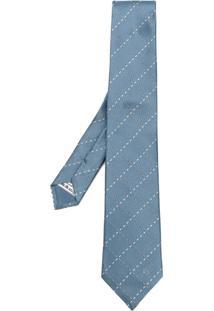 Loewe Gravata De Seda Xadrez - Azul