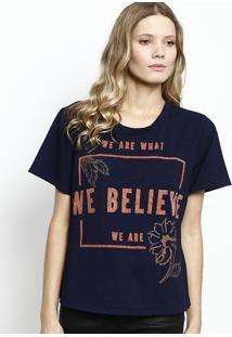 Camiseta ''We Believe''- Azul Marinho & Laranja- Zinzinco
