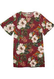 Vestido Feminino Estampa Floral Endless Roxo