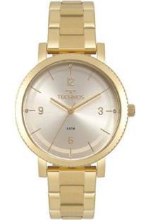 Zattini. Relógio Feminino Vidro Manual Technos Dourado ... 50b63e92cb