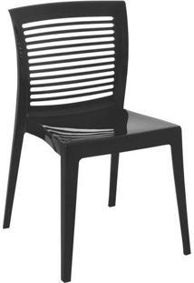 Cadeira Victória Preta Encosto Vazado Tramontina