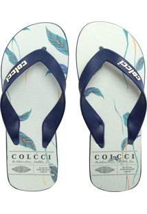 Chinelo Colcci Logo Off-White