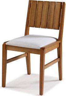 Cadeira Salvador Verniz Mel Estofada 43Cm - 60448 - Sun House