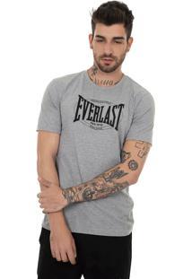 Camiseta Everlast Logo Heritage Grande-Gg-Mescla