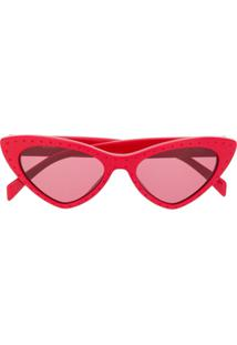... Moschino Eyewear Cat Eye Sunglasses - Vermelho 9d2145e3ec