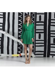 Vestido Manga Longa Evasê Verde Hip Green - Lez A Lez