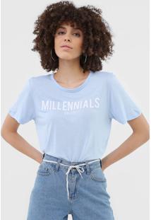 Blusa Colcci Millennials Azul