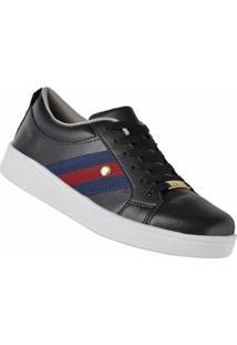 Tênis D&R Shoes Casual Feminino - Feminino-Preto