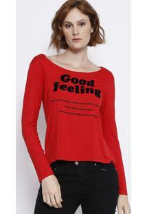 Blusa Com Pespontos - Vermelha & Preta - Malweemalwee